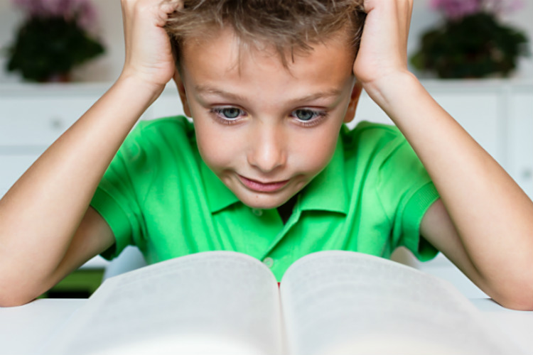 child learning, frustrated