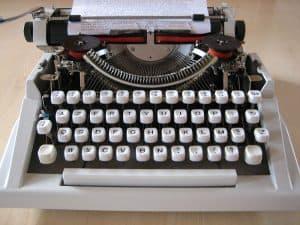 Typemachine binnenkant
