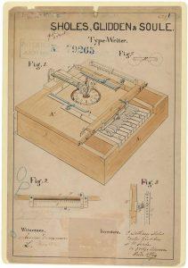 Typewriter Patent 1868