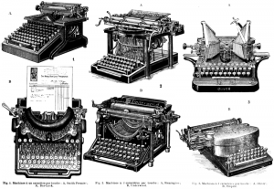 Single Shift and Double Shift Typerwriters in 1911