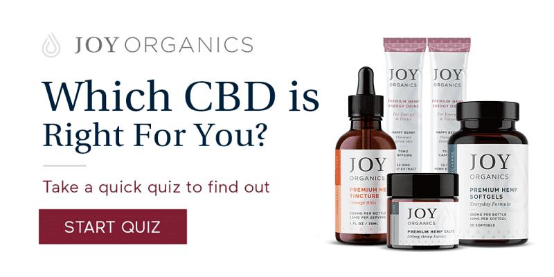 Take CBD Quiz at Joy Organics
