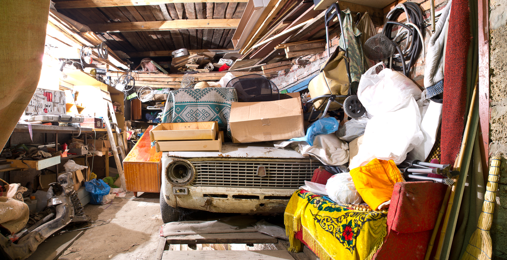 house with hoarded items