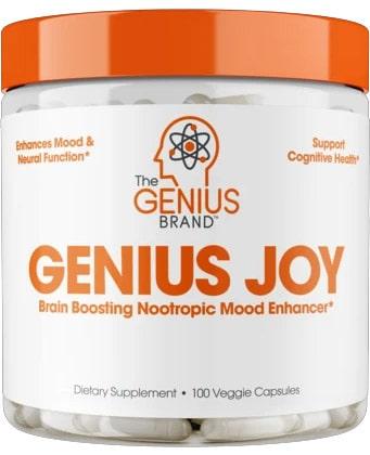 Genuis Joy Label on Front of Bottle