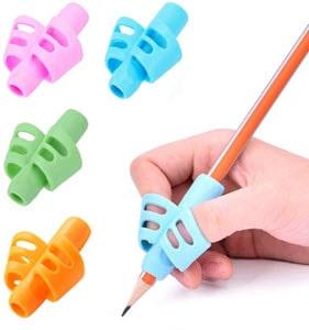 A hand holding a pencil with Bushibu grip