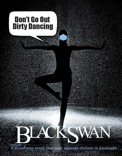 black swann coronavirus PSA