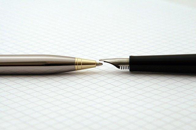 ballpoint pen with fountain pen