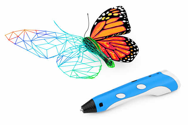butterfly drawn with a 3 d pen
